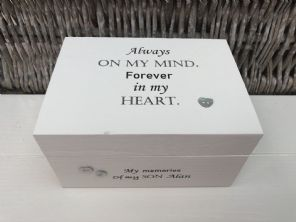 Personalised In Memory Of A Loved One ~ SON ~ BOX any Name Bereavement Loss - 232737736002